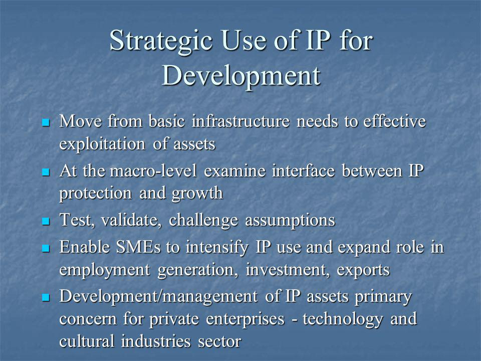 Strategic Use of IP for Development