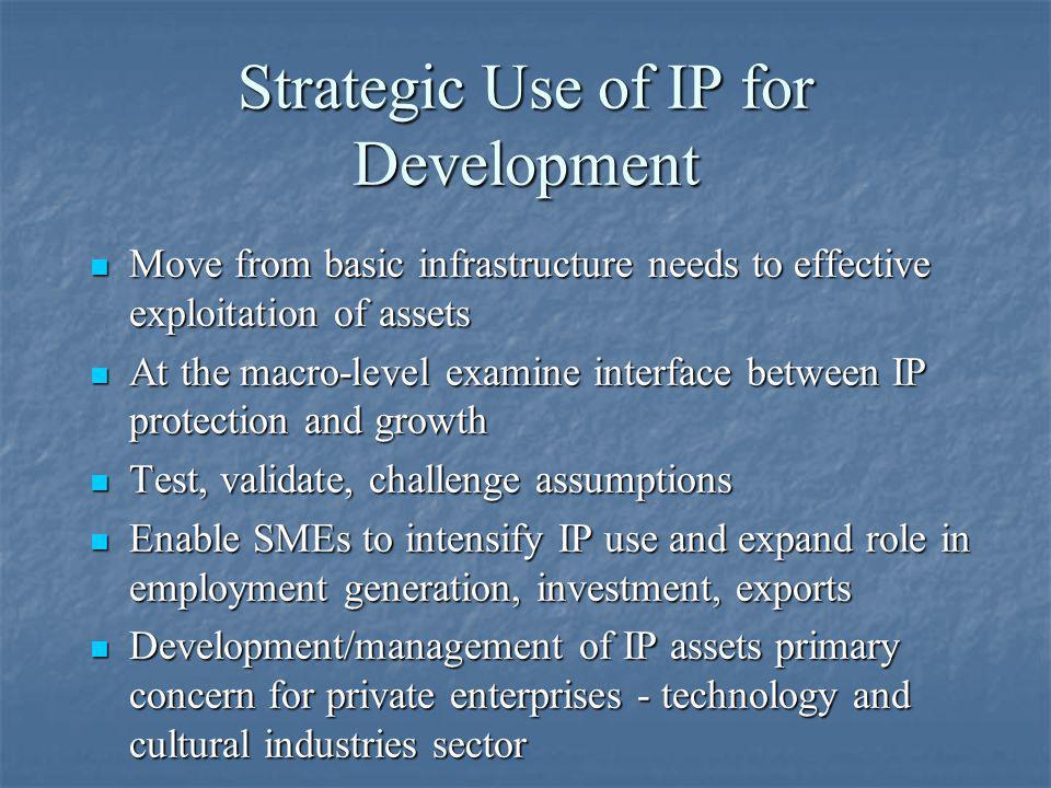 Strategic Use of IP for Development
