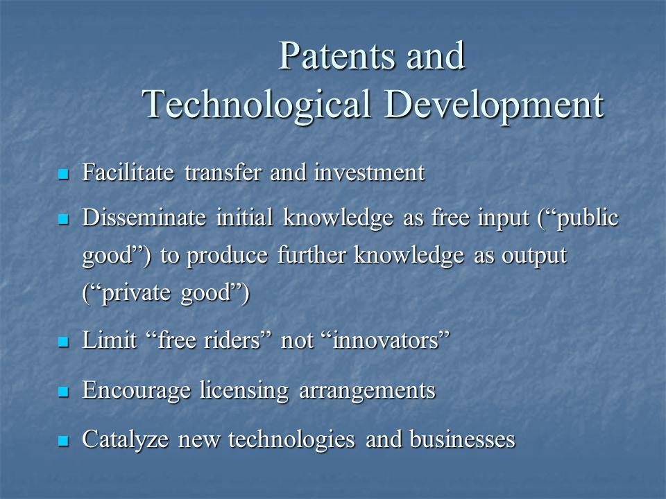 Patents and Technological Development