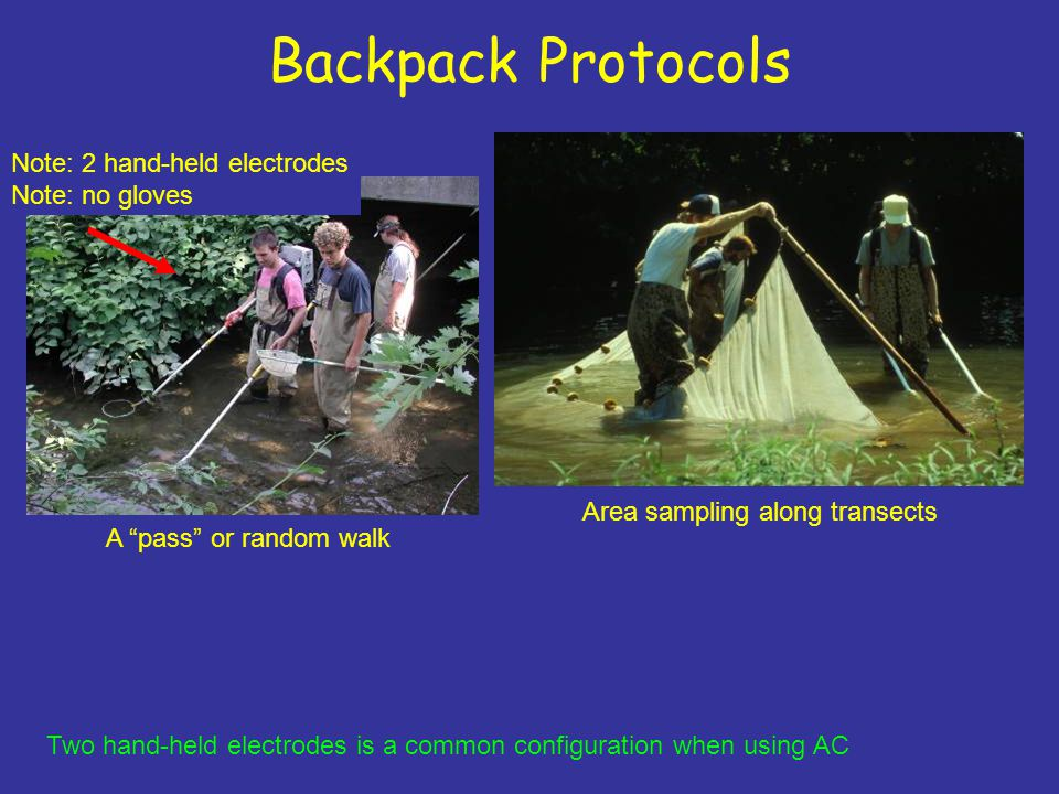 Backpack Protocols Note: 2 hand-held electrodes Note: no gloves