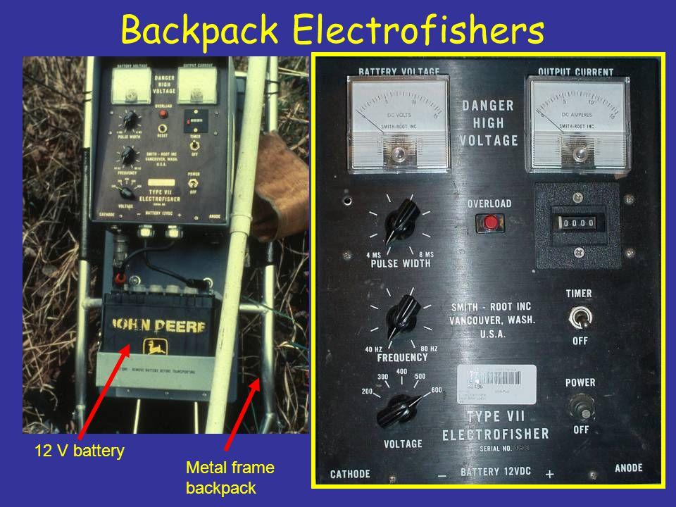 Backpack Electrofishers