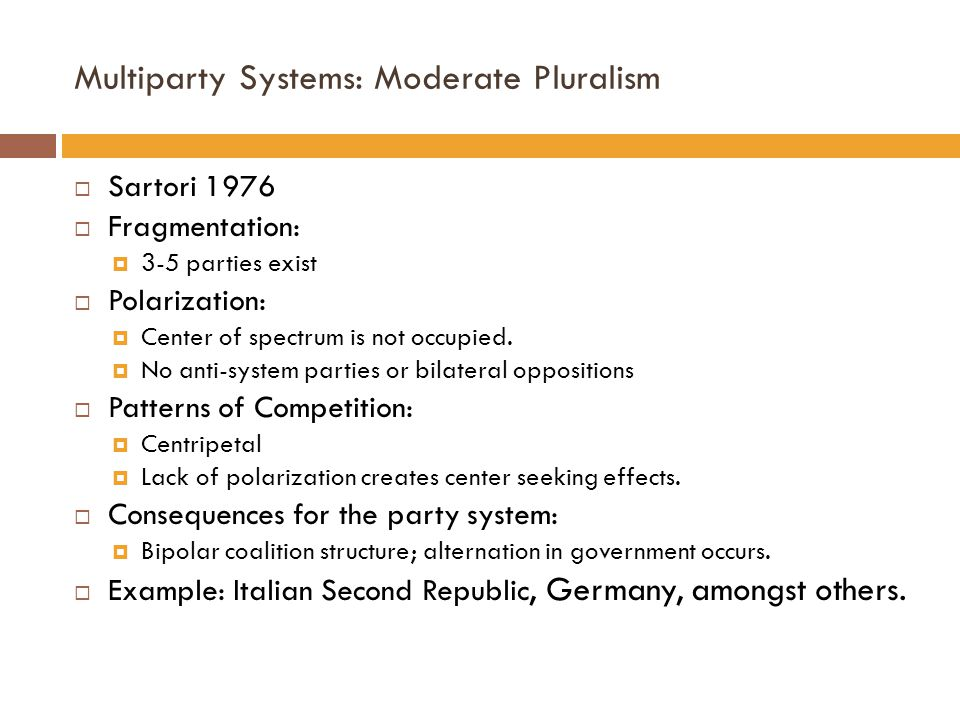 Multiparty Systems: Moderate Pluralism