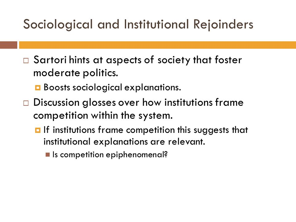 Sociological and Institutional Rejoinders