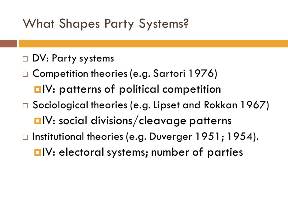 What Shapes Party Systems