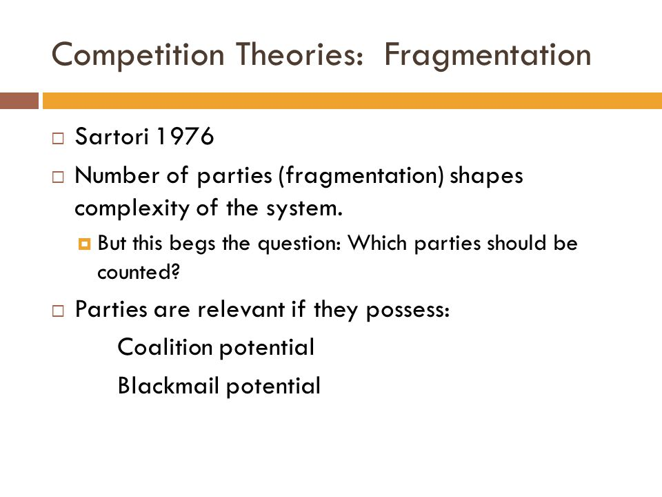 Competition Theories: Fragmentation