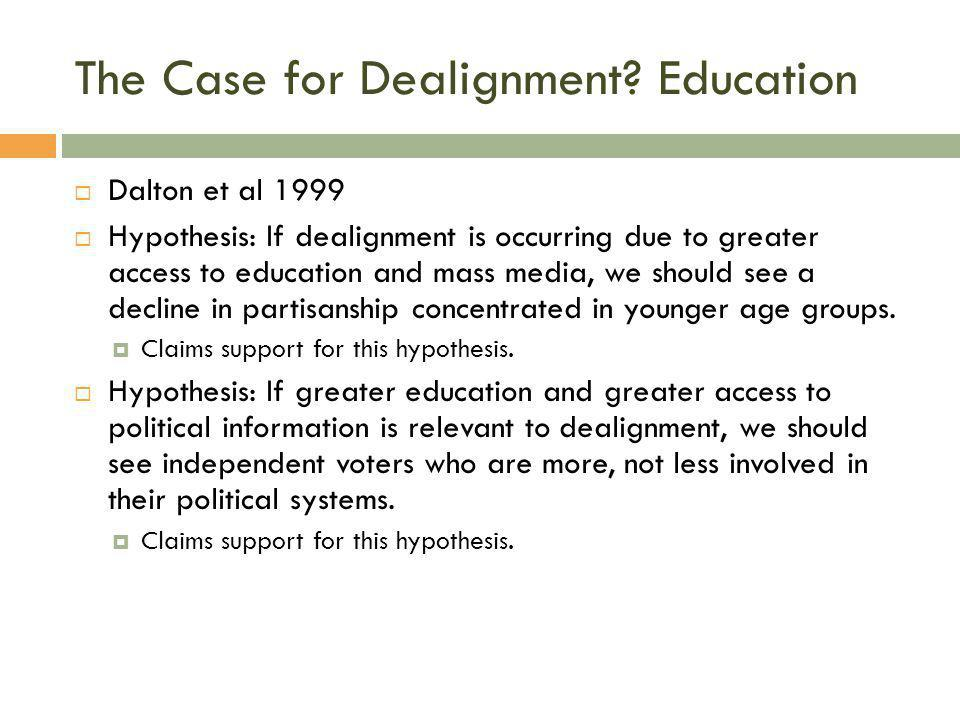 The Case for Dealignment Education