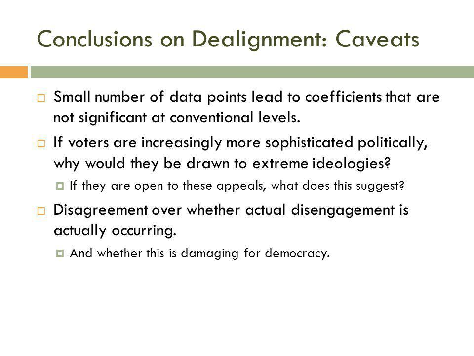 Conclusions on Dealignment: Caveats