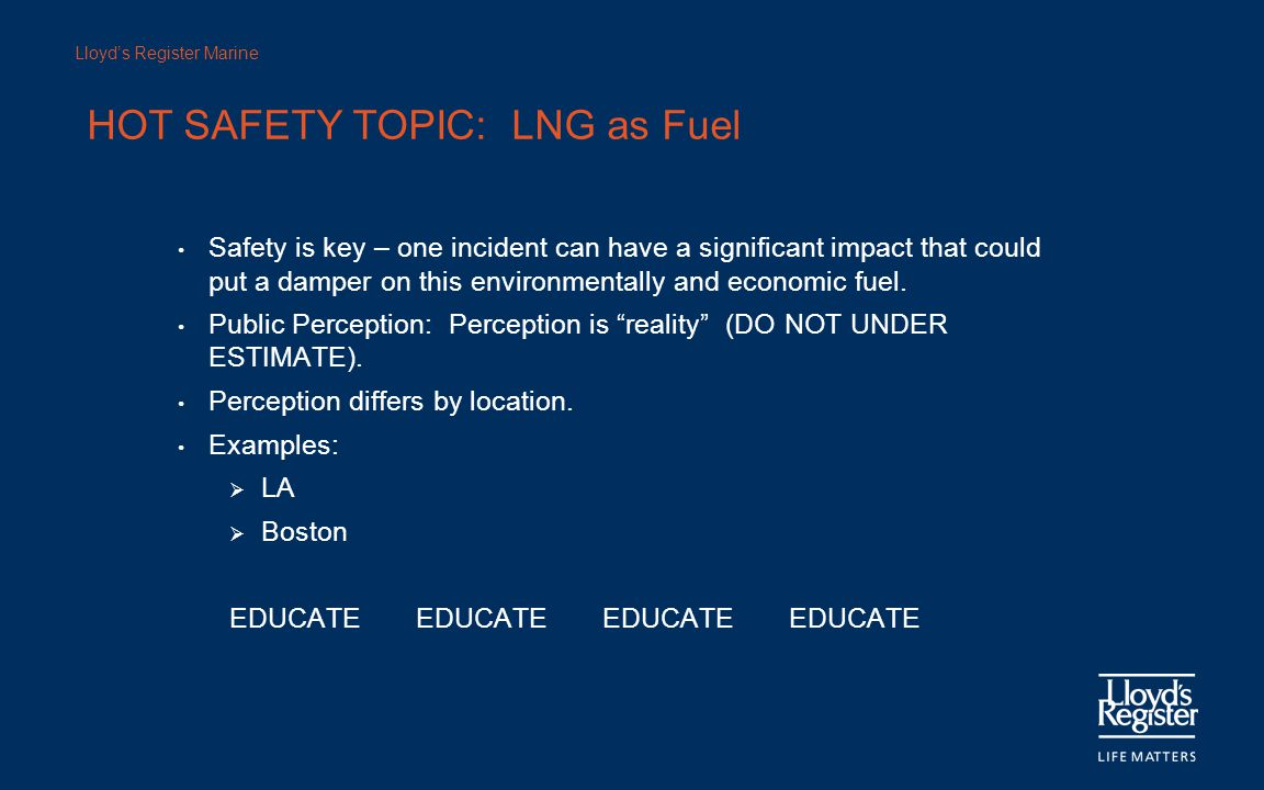 HOT SAFETY TOPIC: LNG as Fuel