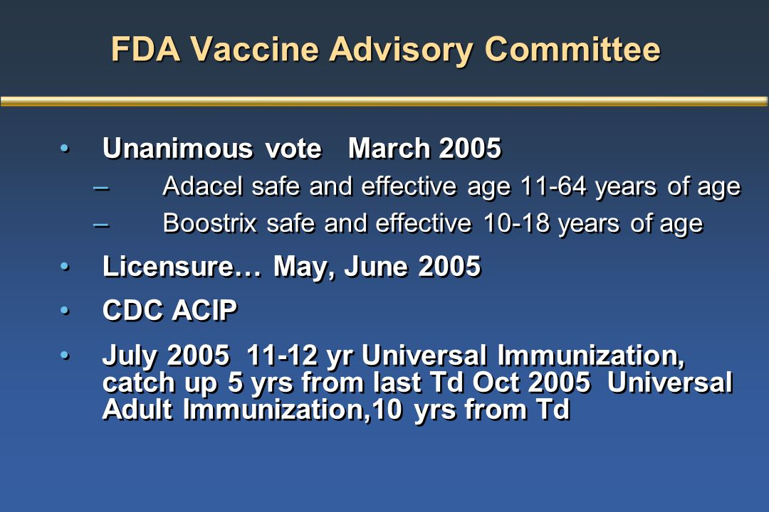 FDA Vaccine Advisory Committee