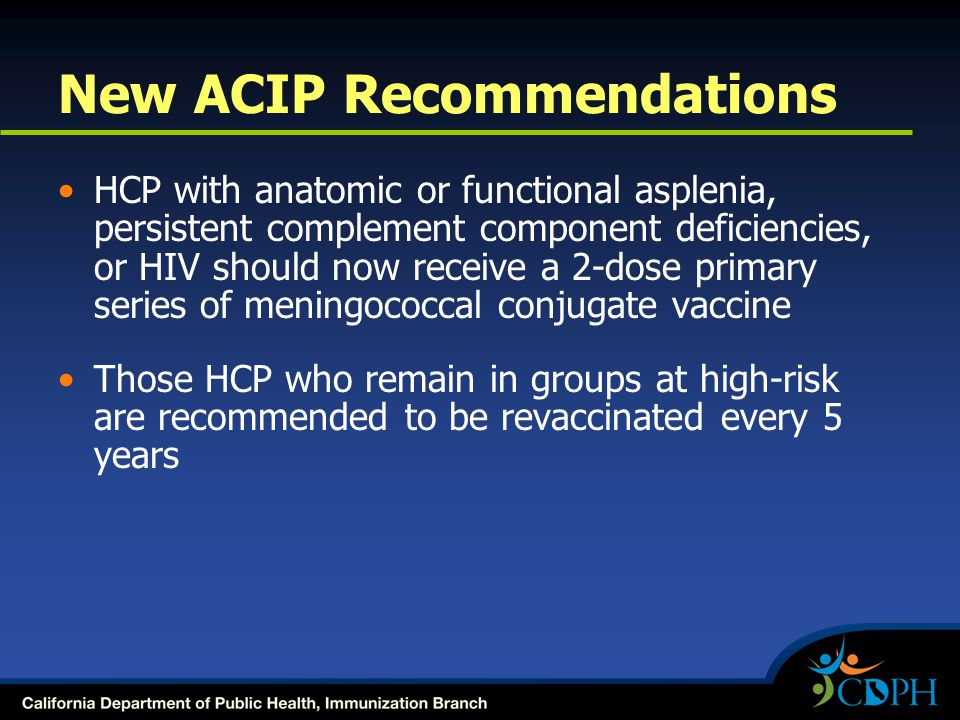 New ACIP Recommendations