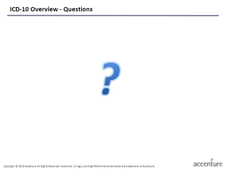 ICD-10 Overview - Questions