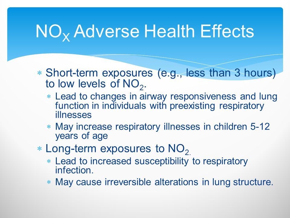 NOX Adverse Health Effects