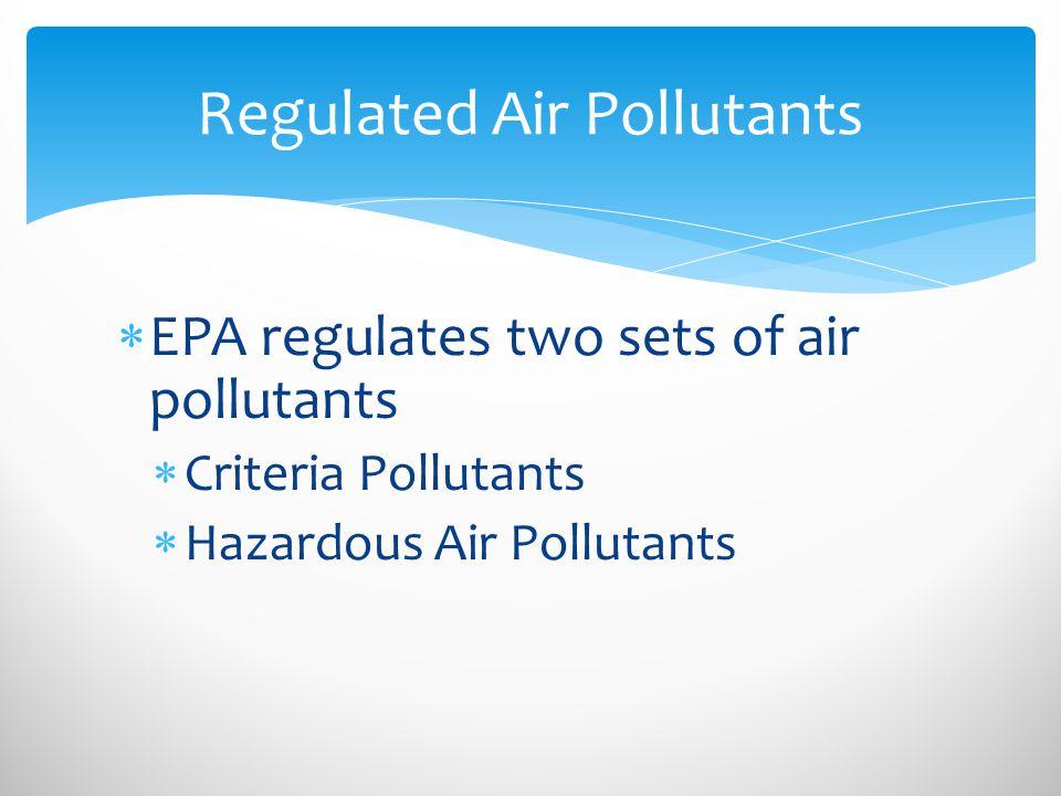 Regulated Air Pollutants
