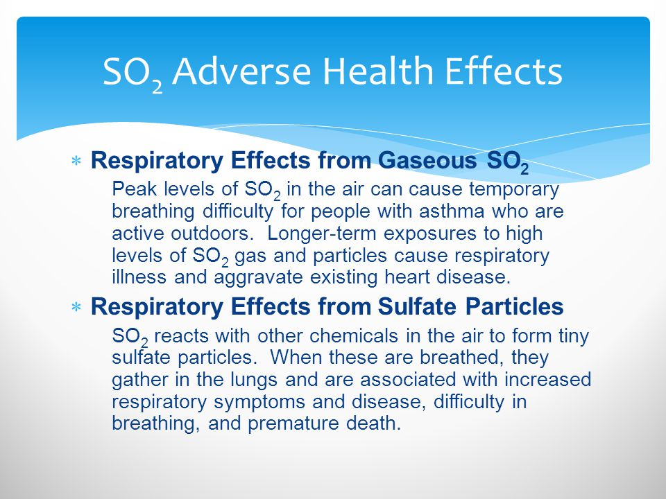 SO2 Adverse Health Effects