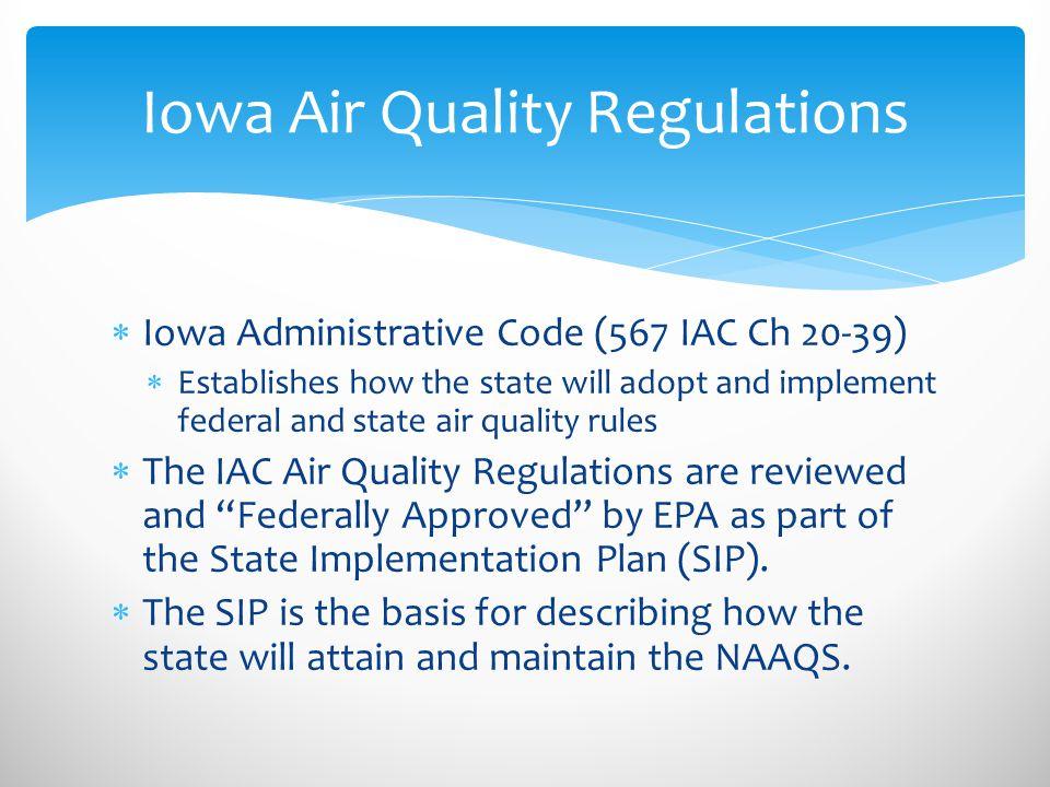 Iowa Air Quality Regulations
