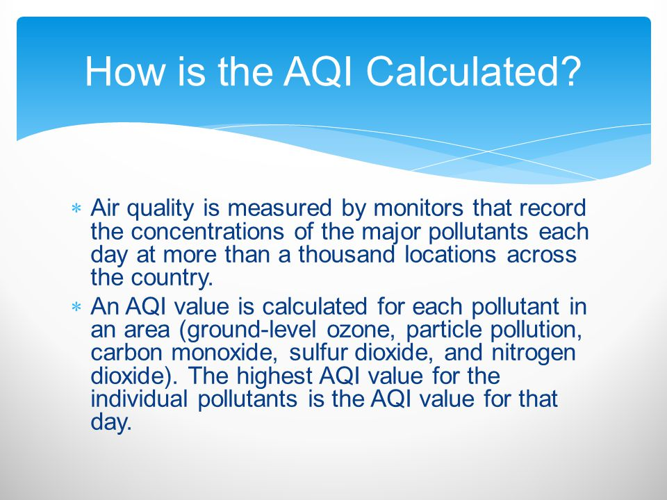 How is the AQI Calculated