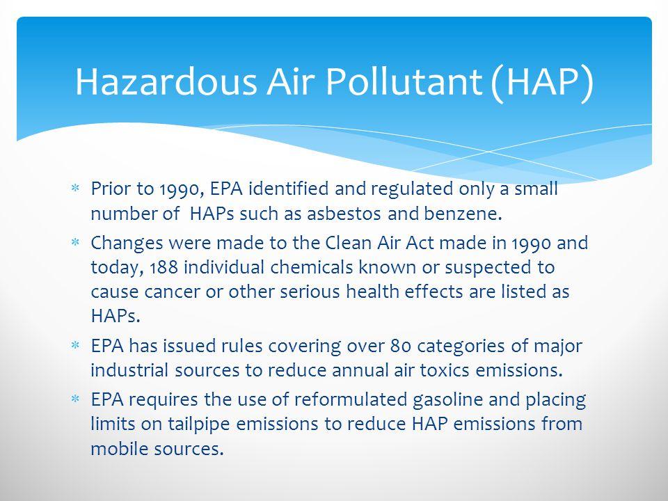 Hazardous Air Pollutant (HAP)