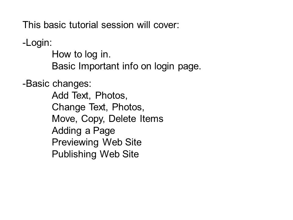 This basic tutorial session will cover: