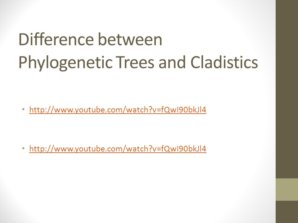 Difference between Phylogenetic Trees and Cladistics