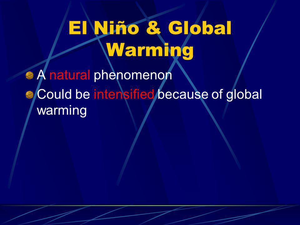 El Niño & Global Warming