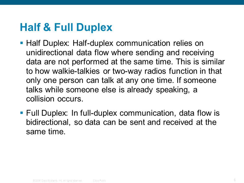Half & Full Duplex