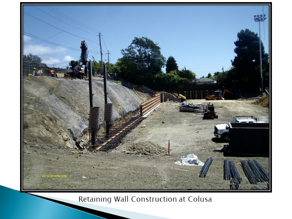 Retaining Wall Construction at Colusa