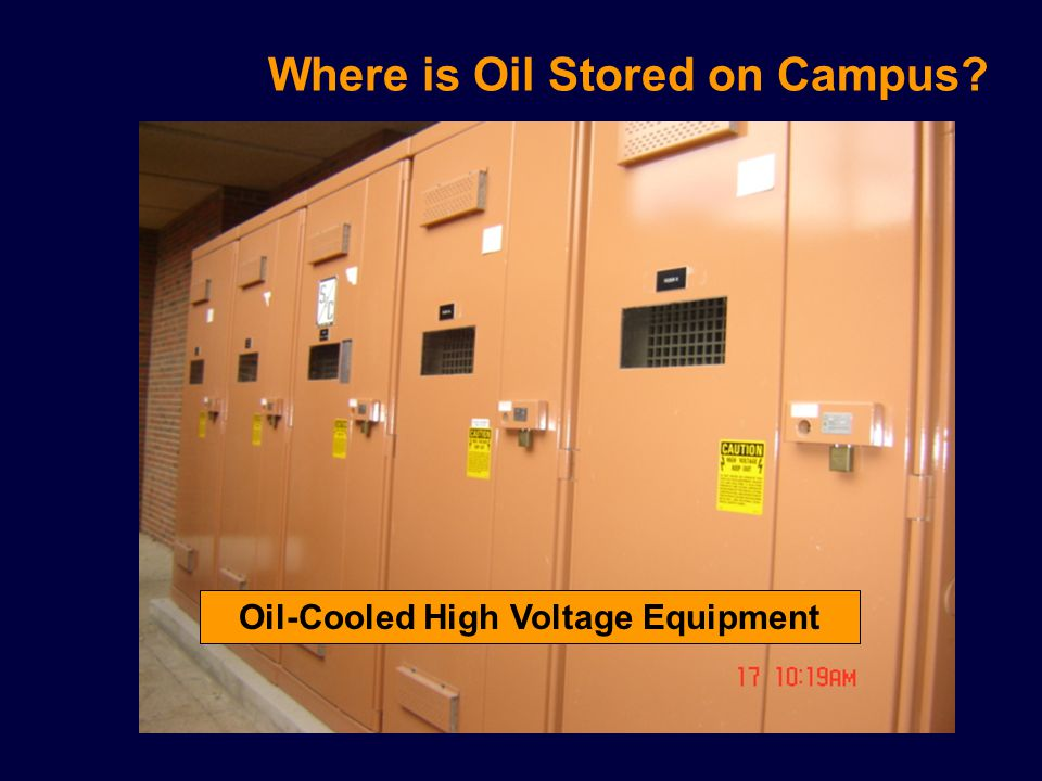 Where is Oil Stored on Campus