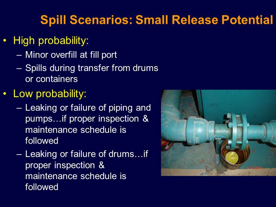 Spill Scenarios: Small Release Potential