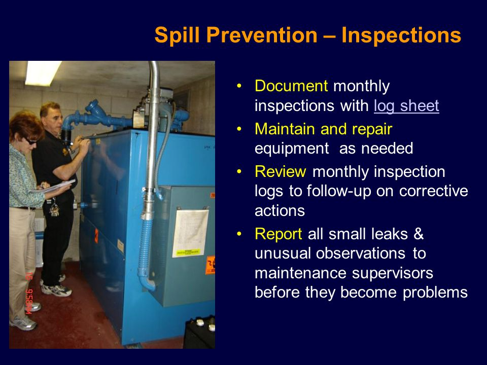 Spill Prevention – Inspections