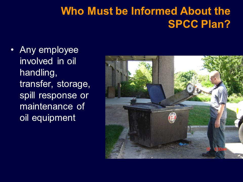 Who Must be Informed About the SPCC Plan