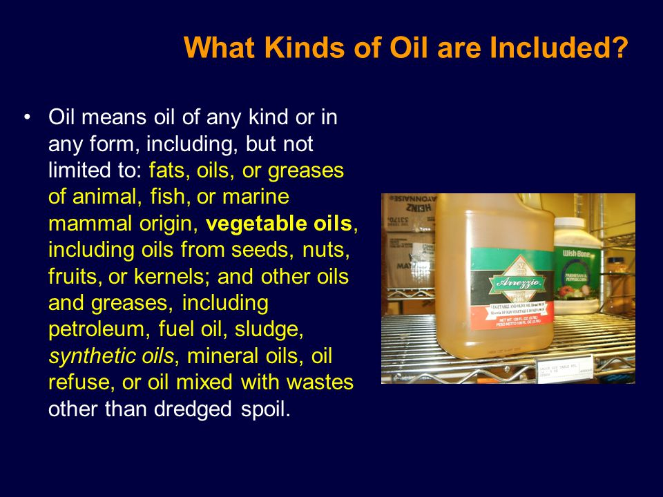 What Kinds of Oil are Included