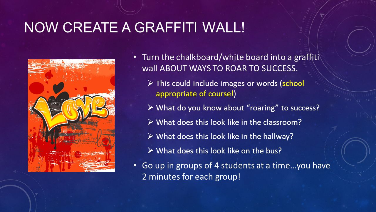 Now create a Graffiti Wall!