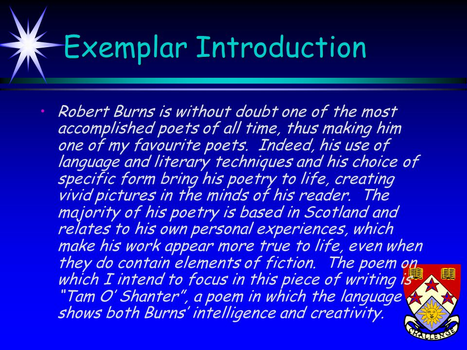 Exemplar Introduction