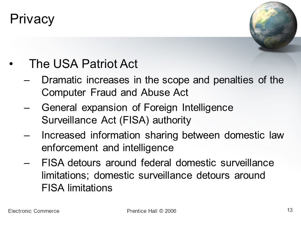 Privacy The USA Patriot Act