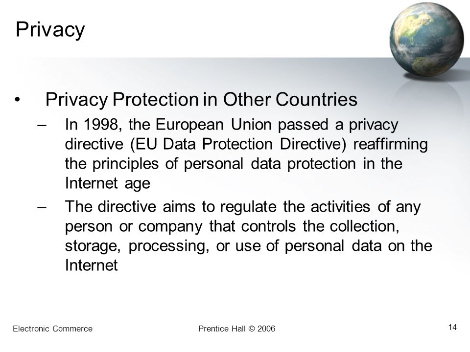 Privacy Privacy Protection in Other Countries