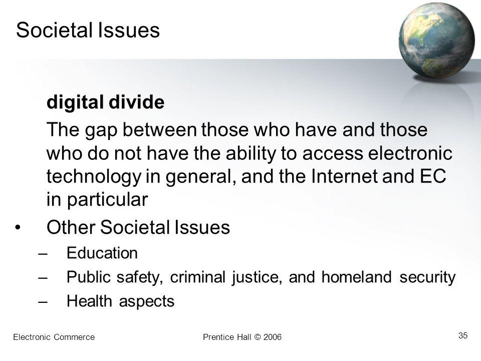 Societal Issues digital divide