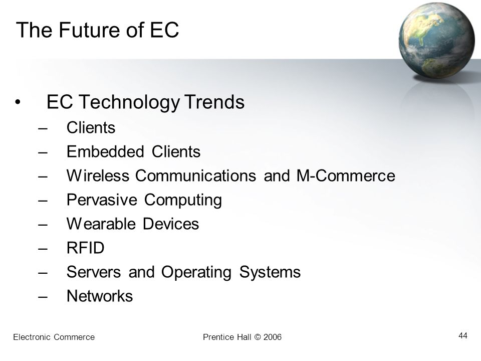 The Future of EC EC Technology Trends Clients Embedded Clients