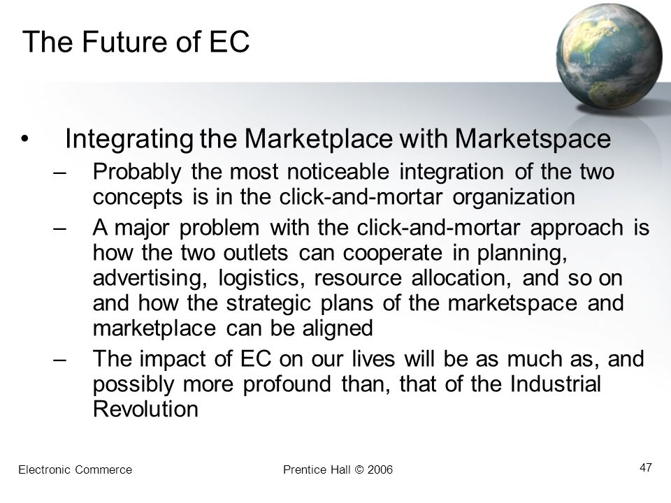 The Future of EC Integrating the Marketplace with Marketspace