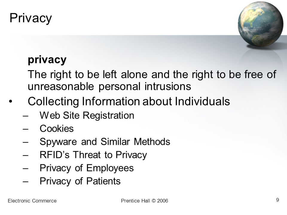 Privacy privacy Collecting Information about Individuals