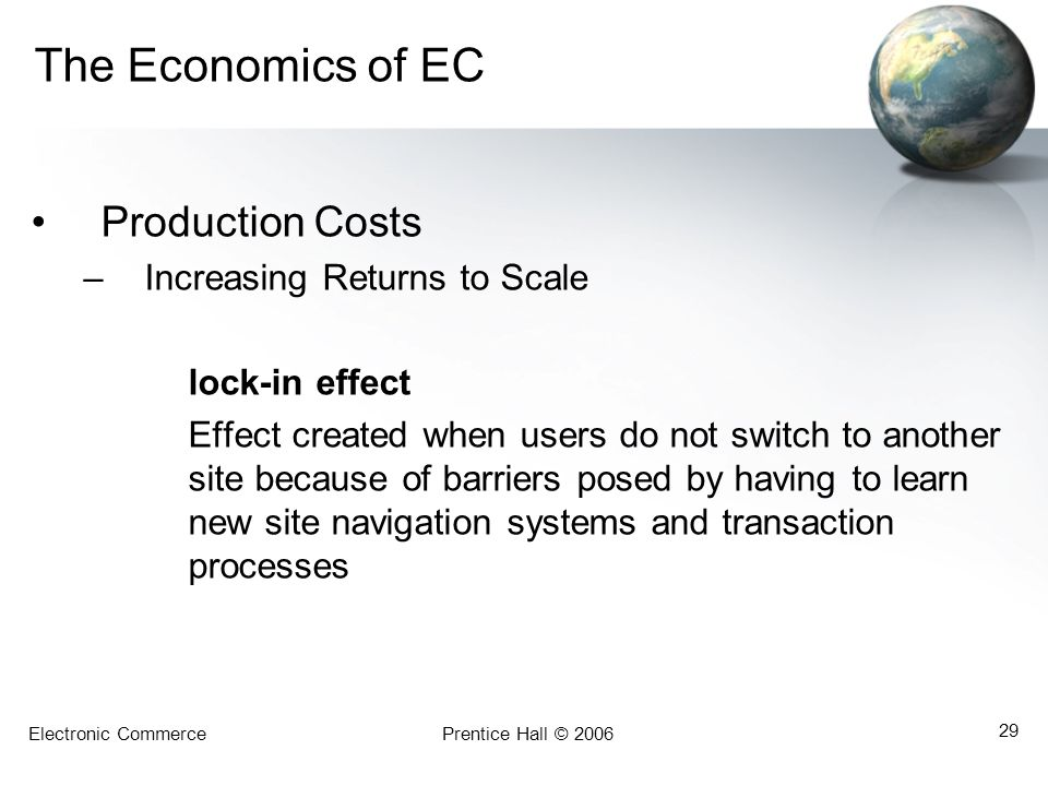 The Economics of EC Production Costs Increasing Returns to Scale