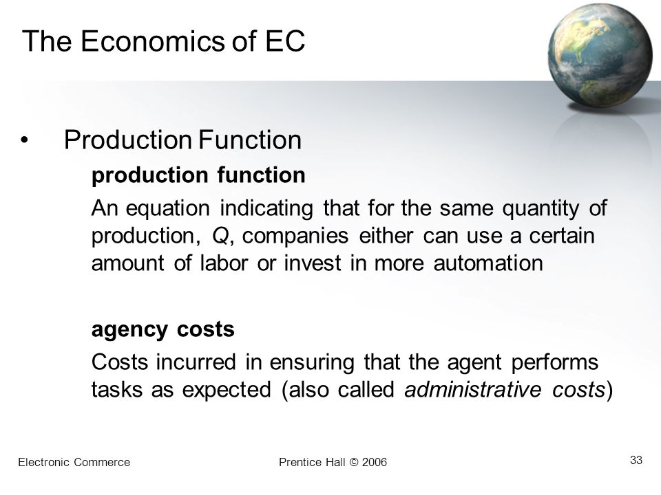 The Economics of EC Production Function production function