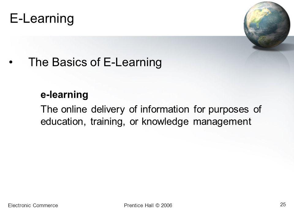 E-Learning The Basics of E-Learning e-learning