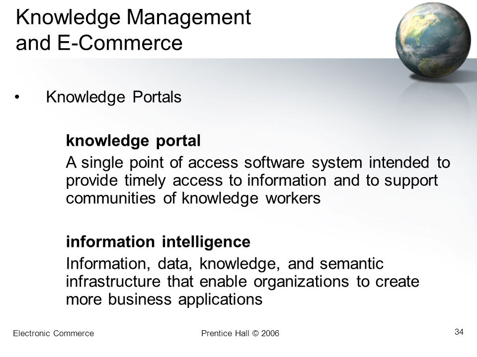 Knowledge Management and E-Commerce