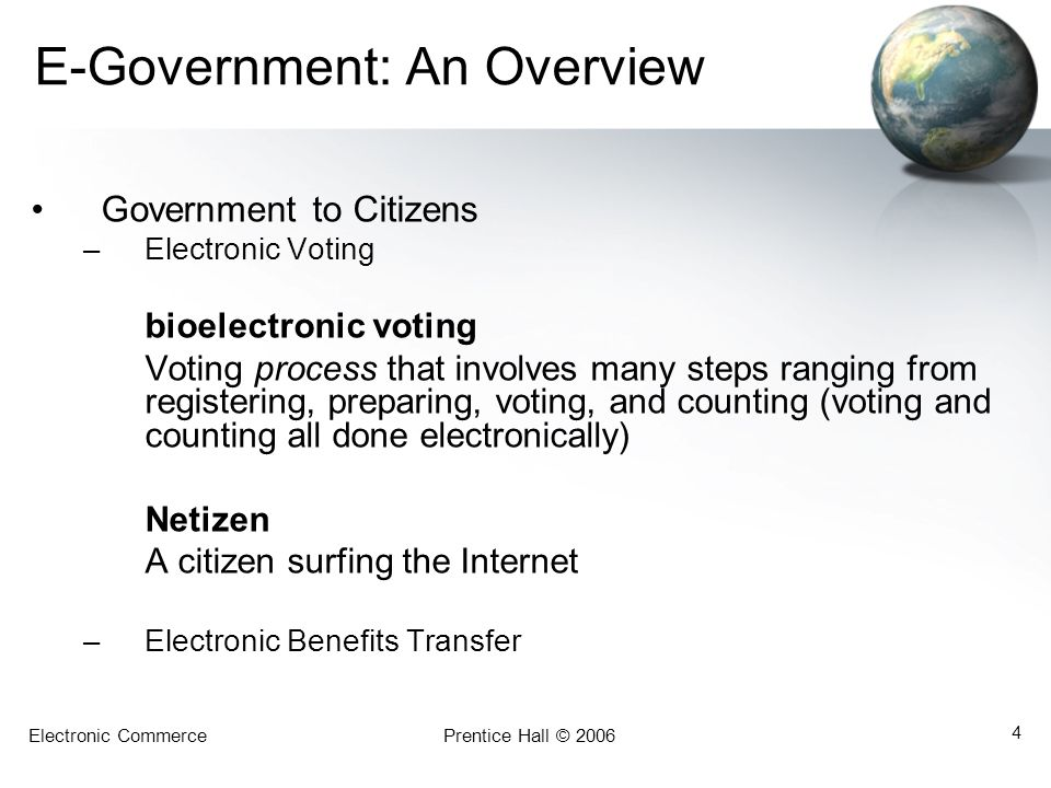 E-Government: An Overview