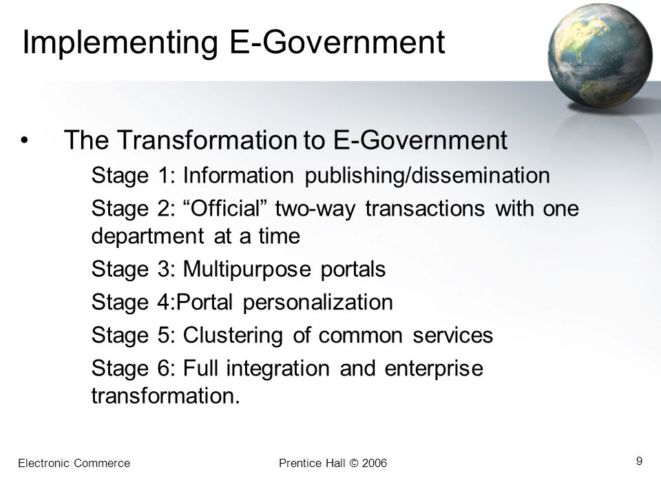 Implementing E-Government