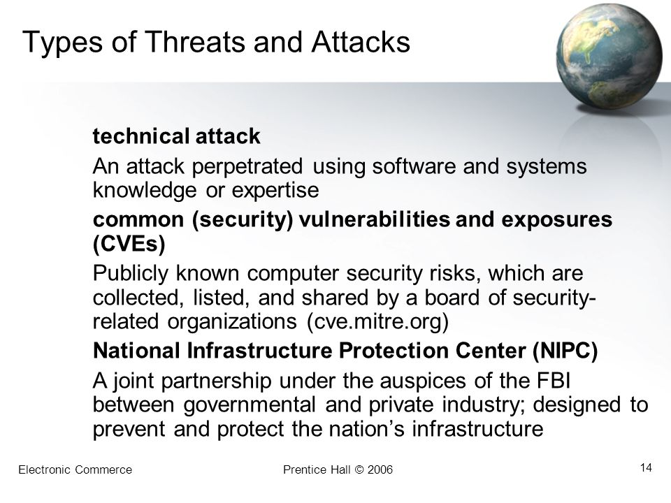 Types of Threats and Attacks