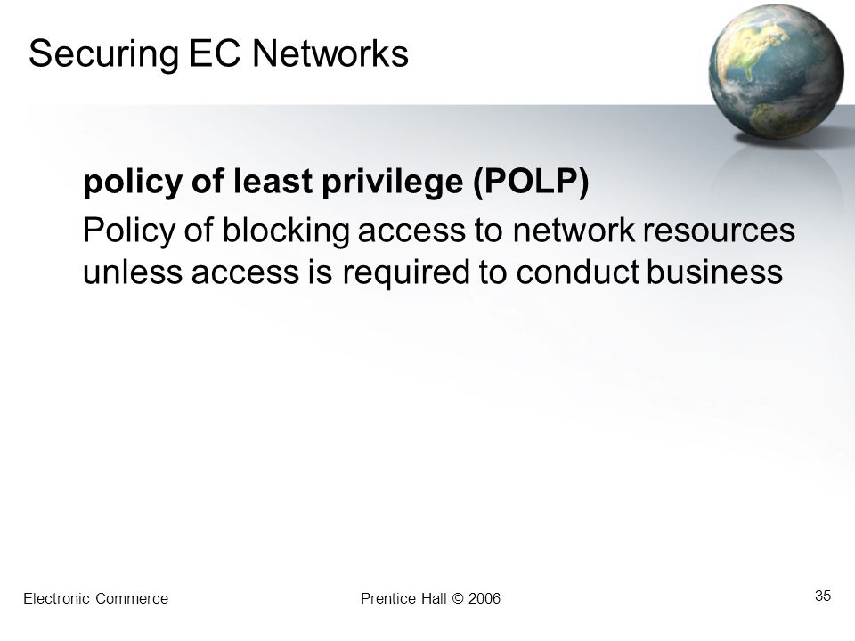 Securing EC Networks policy of least privilege (POLP)