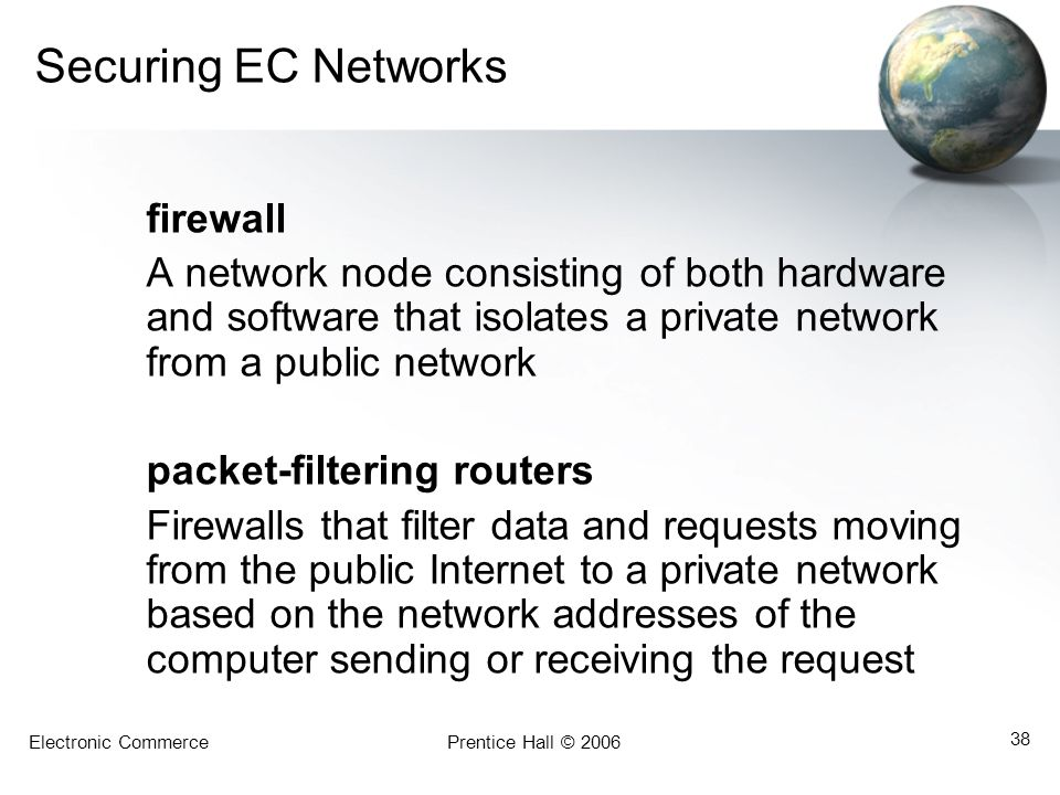 Securing EC Networks firewall