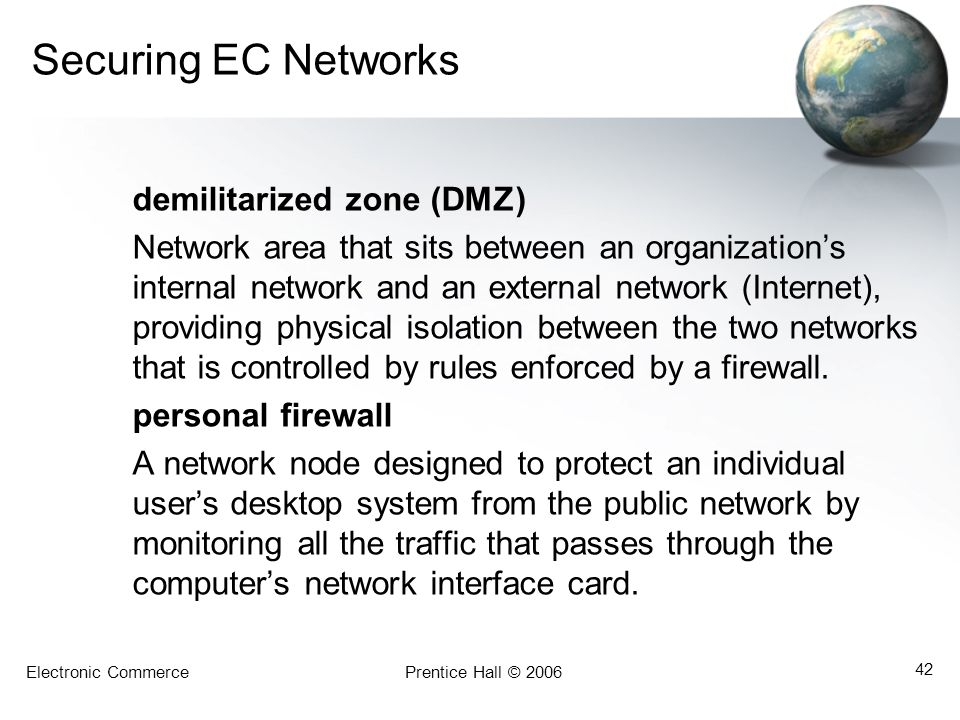 Securing EC Networks demilitarized zone (DMZ)