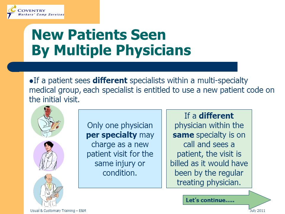 New Patients Seen By Multiple Physicians
